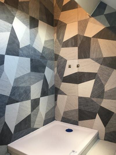 Faïence déco dans douche – Le Crotoy