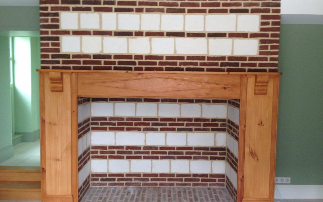 Réfection d'une cheminée picarde – Rue (80)