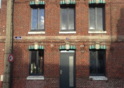 Fenêtres et porte en aluminium RAL 7016