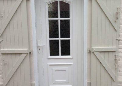 Porte d'entrée en PVC blanc – RUE – 80