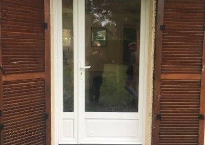 Porte fenêtre en PVC-blanc tierce avec semi-fixe – QUEND-PLAGE