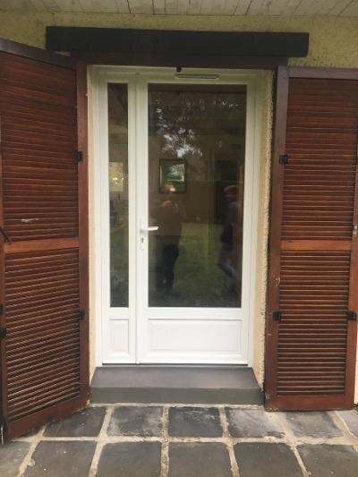 Porte fenêtre en PVC-blanc tierce avec semi-fixe - RUE - 80