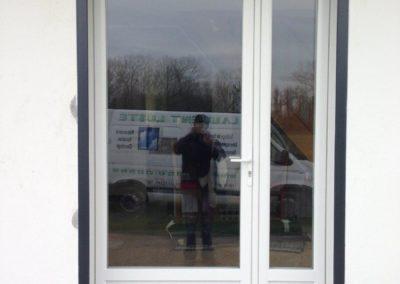 Porte fenêtre en PVC-blanc, tierce avec semi-fixe – RUE – 80