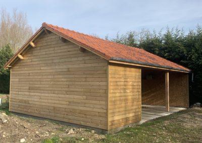 Garage ossature bois sur dalle existante – RUE – 80