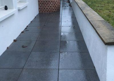 Terrasse en dalles sur plots- CAUMARTIN – 80 –